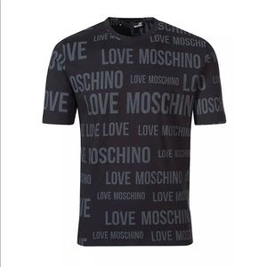 Love Moschino All Over Print Tee M473200M 4084